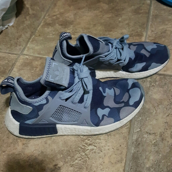 Women's Adidas NMD blue camo sneakers sz 8